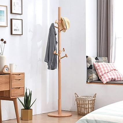 Zhangmin Percha De Madera Piso Dormitorio Percha Simple Solo ...