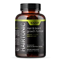 Hair Growth Supplement for Men - Hair, Skin and Nail Vitamin - Beard Growth Stop...