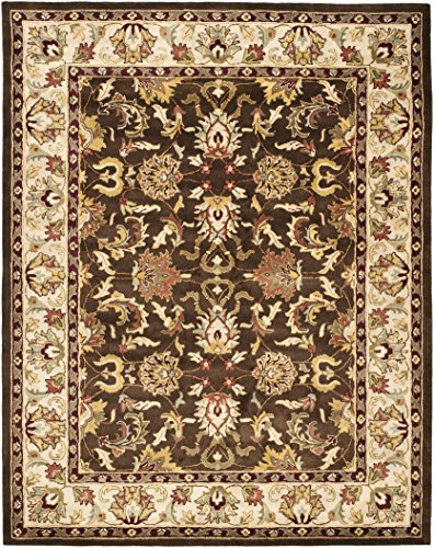 Safavieh Heritage Collection HG818A Handcrafted Traditional Oriental Brown and Beige Wool Area Rug (9' x 12') (Rugs Oriental Wool)