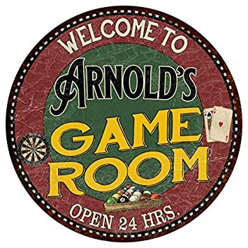 Amazon com: Chico Creek Signs Arnold's Game Room 12
