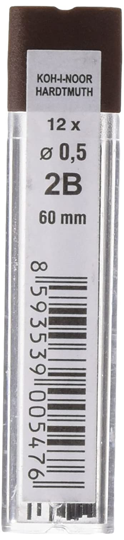 KOH-I-NOOR - Mine in grafite diametro: 0.5mm, per matita 2B 60 mm 415202B005PK