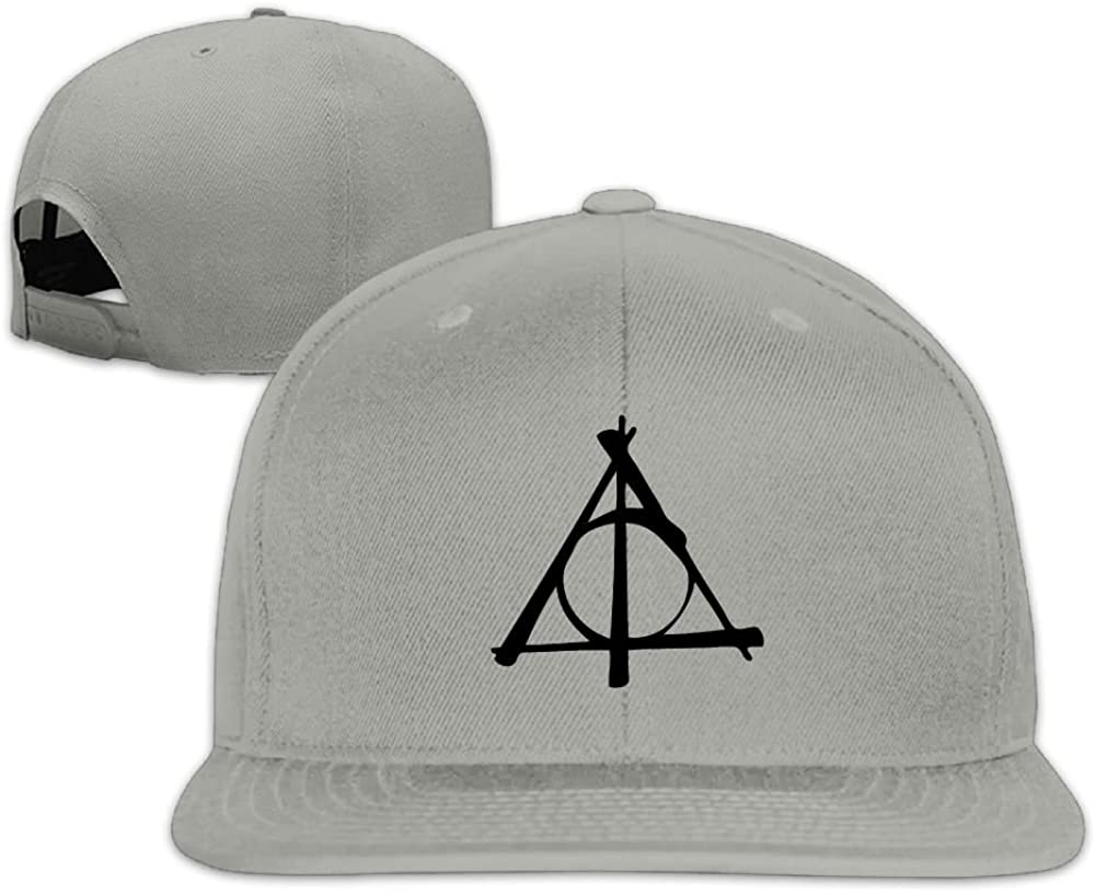 HP Deathly Hallows Baseball Flat Hat chengwangkeji Professional Unisex Snapback Adjustable Truck Cap Sports Travel Hat Natural