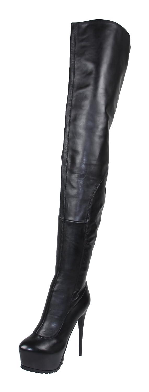AROLLO Damen Anna 2 Special Edition Echtleder Overknee Stiefel