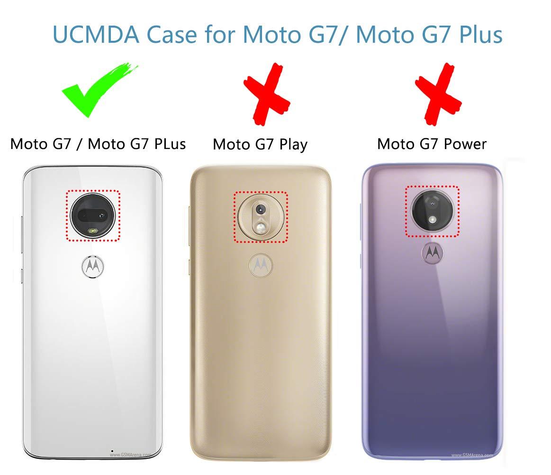 UCMDA Moto G7 / Moto G7 Plus Case Cover, Shock Absorption Soft Moto G7 /  Moto G7 Plus Case Cover, [Anti-Scratch] [Anti-Slip] Protective Cover Case  for