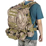 AVGDeals 55L Outdoor Military Molle Tactical Backpack Rucksack Camping Bag Travel Hiking (Wild Python Grain)