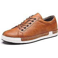 Zapatos de Cordones para Hombre Conducción Zapatillas Cuero Casual Shoes Attività Commerciale Sneakers Negro Gris Marrón…