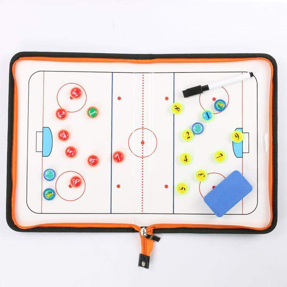BEOOK Sac De Tirette R/éinscriptible De Panneau Dentra/îneur Tactique Magn/étique De Hockey sur Glace pour Le Transport Facile Fournitures Coach