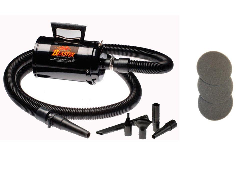 Air Force Blaster Bonus- 3 Extra Filters! Metro Vac Car & Motorcycle Dryer - Model B3-CD