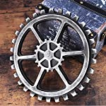 WINOMO 24cm Vintage Steampunk Gear Wheel Home Bar Art Craft Wall Decoration Hexagon Decor 8