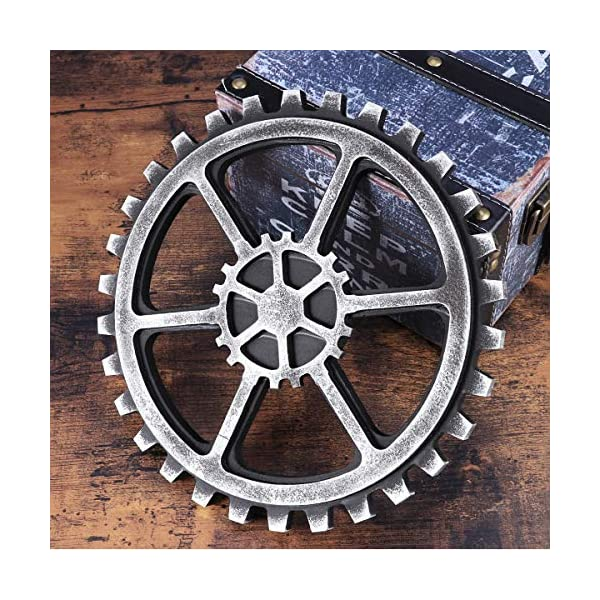 WINOMO 24cm Vintage Steampunk Gear Wheel Home Bar Art Craft Wall Decoration Hexagon Decor 5