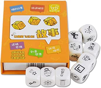 juguete de inteligencia familia ni/ños HeDIANz Juego de 9 dados creativos para contar fiestas