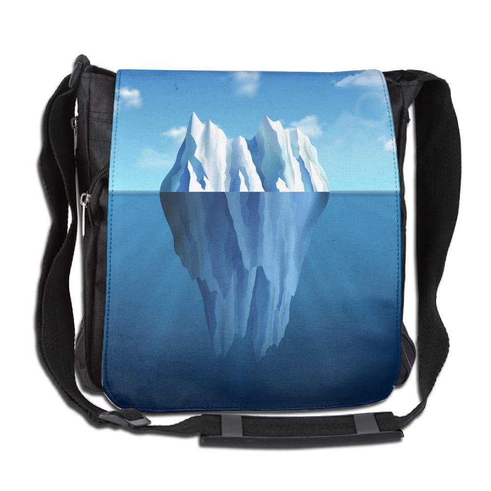 SARA NELL Messenger Bag,Iceberg Landscape,Unisex Shoulder Backpack Cross-body Sling Bag