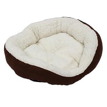 mascotas Mat - TOOGOO(R) perro y Gato caliente suave camas para mascotas Almohada Cama Cachorro Sofa Sofa Mat perrera Pad Color Cafe Tamano 38*33*13cm ...