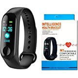Dufort Waterproof Silicone Touch Screen M3 Band with Live Heart Rate Monitor and Smart Fitness Activity Tracker