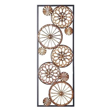 Amazon.com: Copper Circles Hanging Modern Metal Wall Art: Home & Kitchen