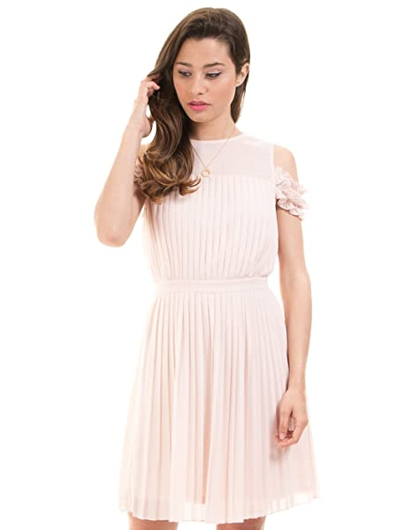 Vila Vestido Plisado Rosa Corto Clothes (Rosa - 36)