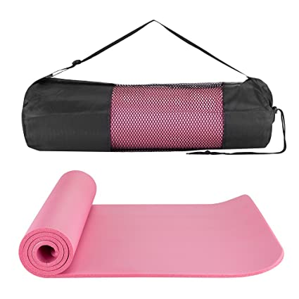 1b4f97ee84 Amazon.com   MASIONE Yoga Mat 10mm 1 2-Inch Thick NBR Nonslip Pilates Pad  Workout Fitness Exercise Mat Yoga Camping Mats with Carry Strap   Bag ...