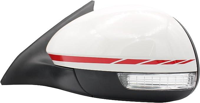 Karminrot Spiegelstreifen Spiegel Aufkleber Folie Streifen Dekor Au/ßenspiegel R/ückspiegel Autoaufkleber Digitaldruck Waben DS013