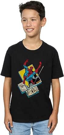 Marvel Jungen Spider-Man Block T-Shirt