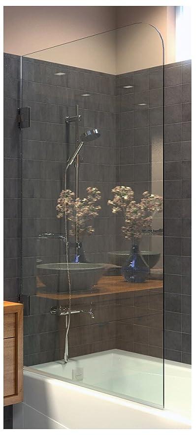 Amazon.com: Ark Showers Frameless Bathtub Shower Screen, Pivot Door ...