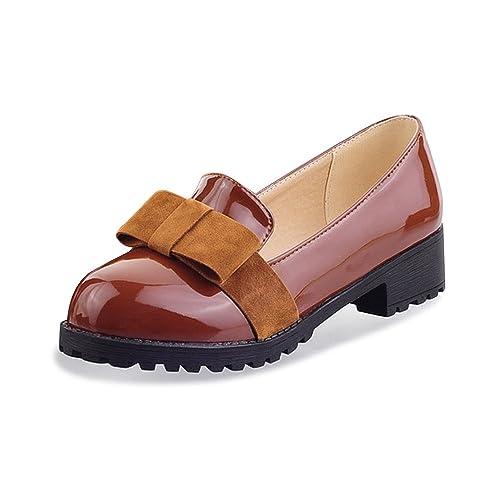 7d538ba64 OCHENTA Arco de Moda mujer zapatos planos ocasionales ocasionales  ocasionales Marrón 44 11553a