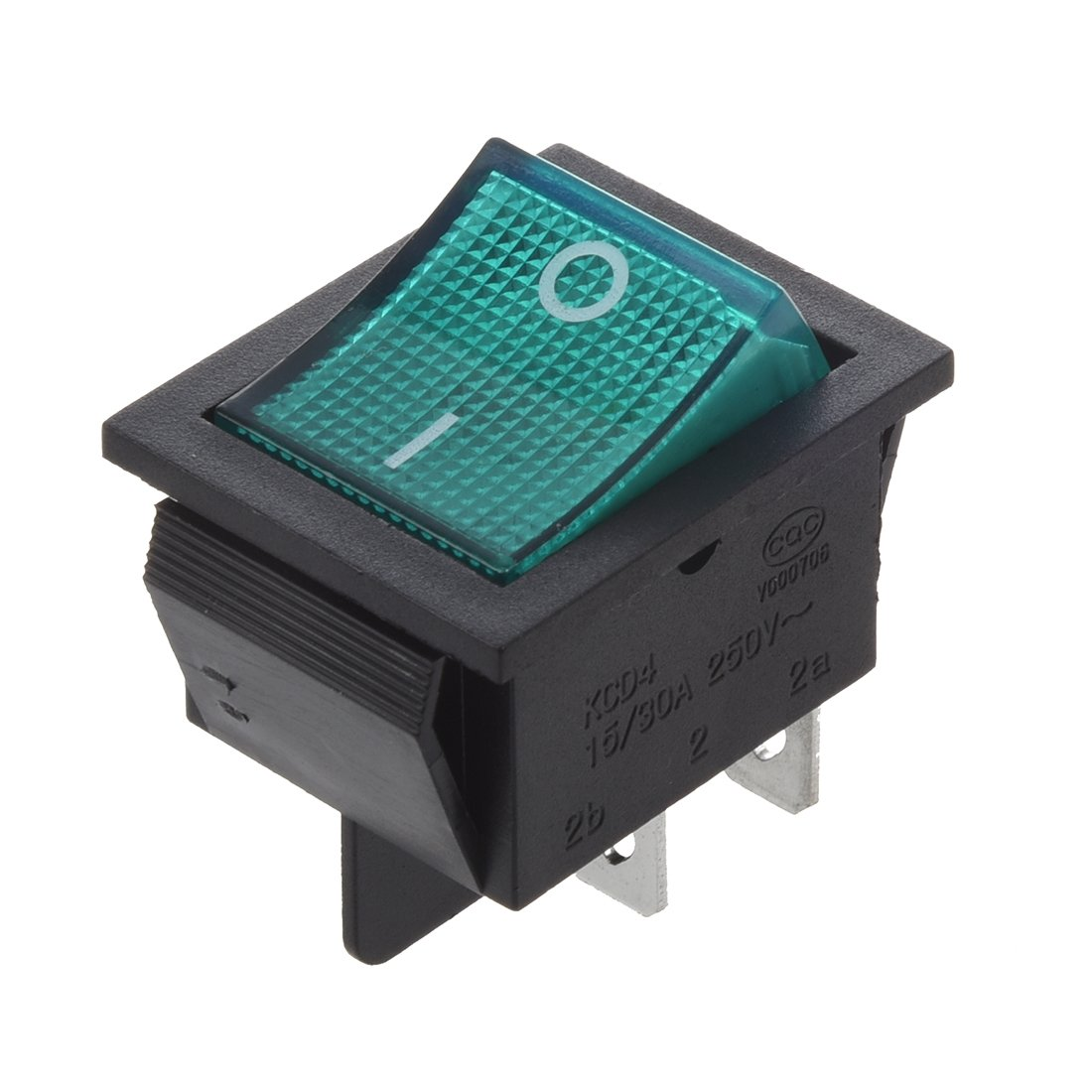 Interruttore a bilico TOOGOO 4 Pin DPST ON // OFF Interruttore a bilico 15A 30A 250V AC R