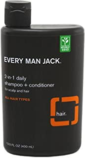 product image for Every Man Jack Shampoo & Conditioner 2-In-1 13.5 Ounce (399ml) (6 Pack)