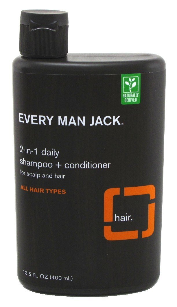 Every Man Jack 2-In-1 Daily Shampoo Plus Conditioner, Citrus, 13.5 Fluid Ounce Everyman Jack 91306