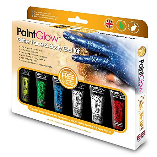 Paint Glow Glitter Face And Body Gel Kit Make Up Sparkle Festival Shimmer]()