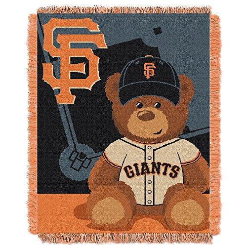 SAN FRANCISCO GIANTS MLB TRIPLE WOVEN JACQUARD THROW (FIELD BABY SERIES) (36X48)
