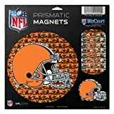 WinCraft NFL Cleveland Browns Prismatic Magnets Sheet, 11''x11'', Team Color