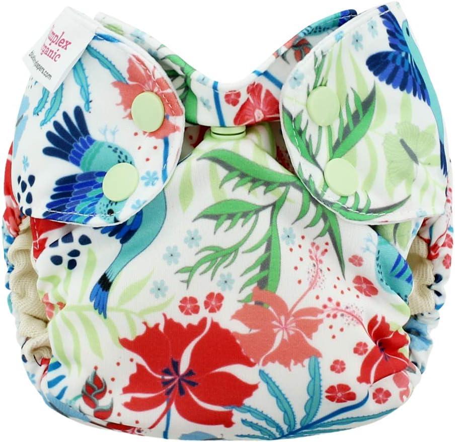 Simplex Newborn Blueberry AIO GOTS - Bio-Baumwolle - Hummingbirds