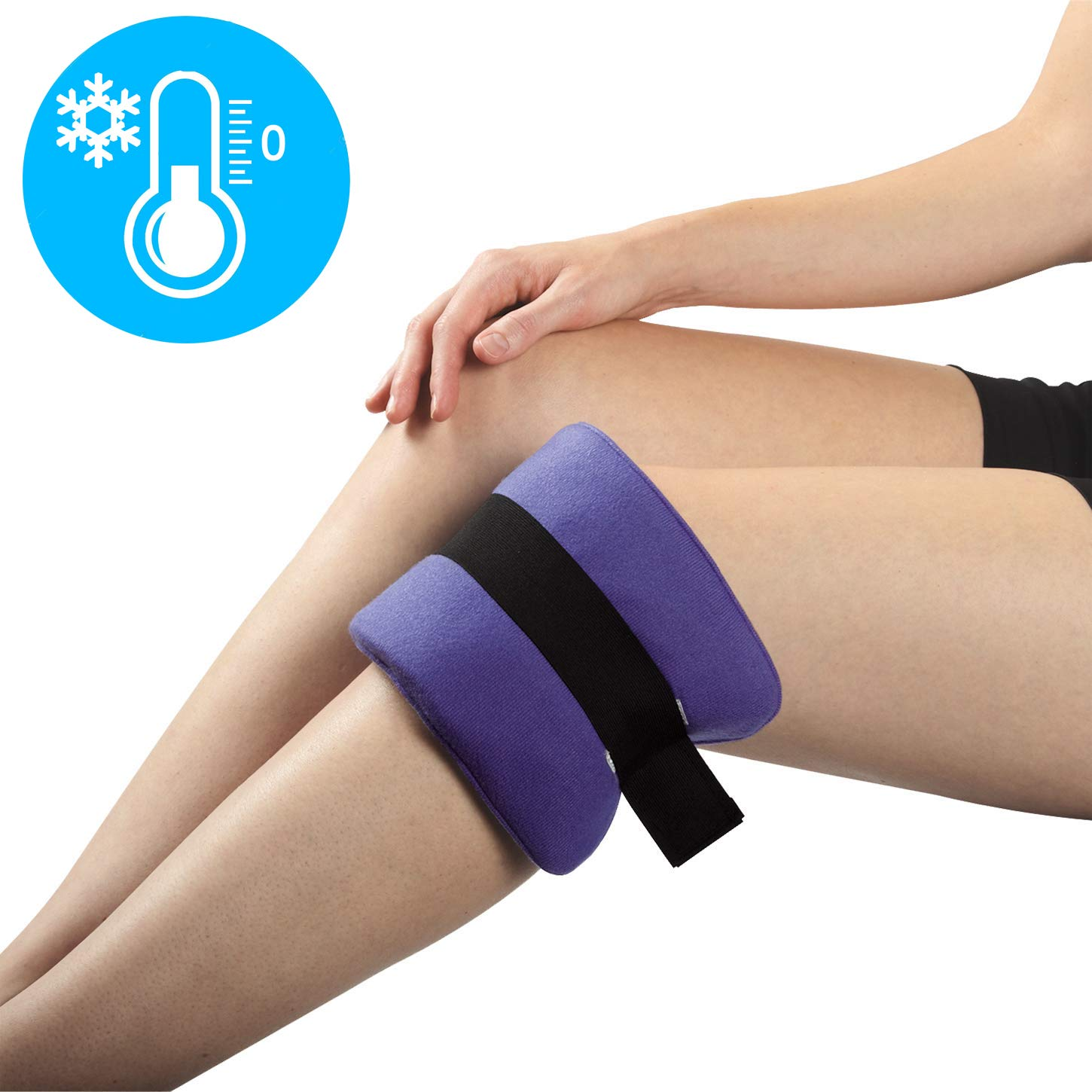 Thermipaq ICY Cold Pain Relief Wrap - Large 8x14 Thermal Clay Knee Ice Pack Wrap for Knee Pain Relief - Long Lasting - Adjustable Strap for Shoulders, Neck Pain Relief, Back Pain Relief, Elbow