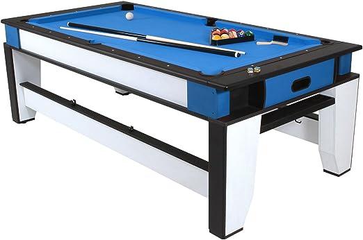 PLAYCRAFT doble juego 2 en 1, 7 pies billar y mesa de Air Hockey: Amazon.es: Deportes y aire libre