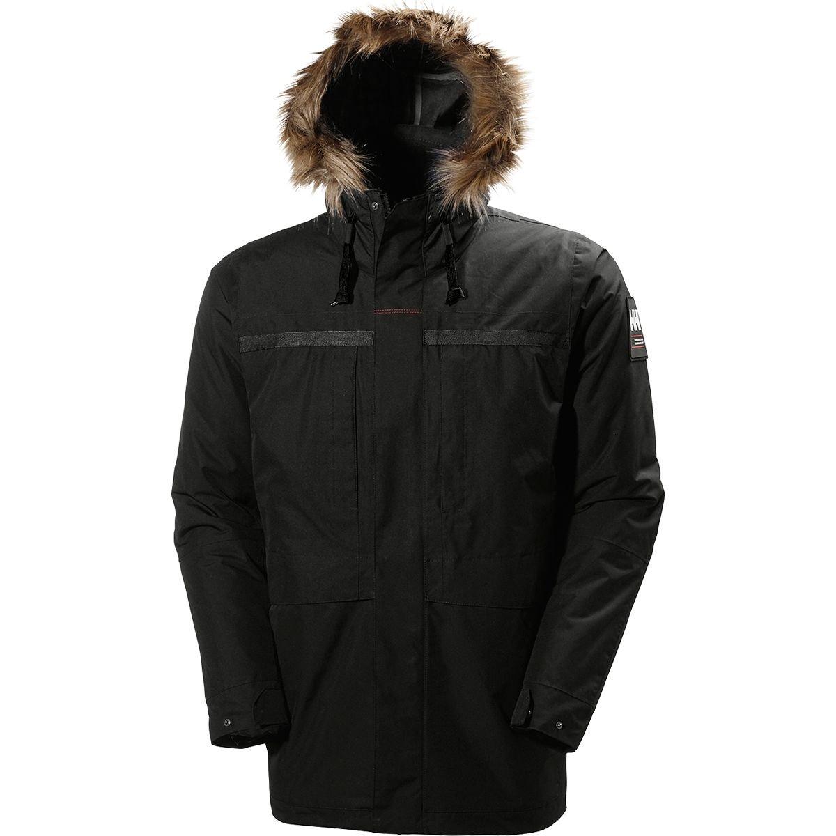 (ヘリーハンセン) Helly Hansen Coastal 2 Insulated Parka メンズ ジャケットBlack [並行輸入品] B07677X54K 日本サイズ L (US M)|Black Black 日本サイズ L (US M)