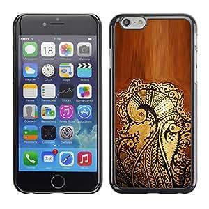 Cubierta de la caja de protección la piel dura para el Apple iPhone 6PLUS (5.5) - pen art floral pattern graffiti