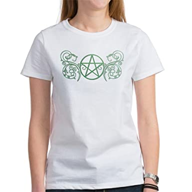 Image Unavailable. Image not available for. Color  CafePress - Pretty Green  Pentacle Women s T-Shirt ... f00b5ddac4