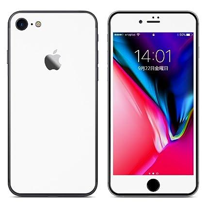 Amazon | wraplus for iPhone8 [ホワイト] スキンシール (前面/背面 ...