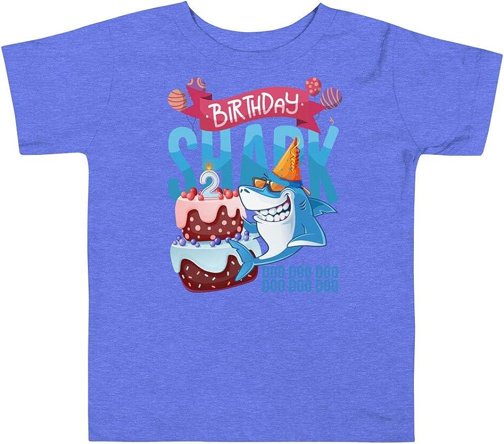 Kids Baby Shark Shirt 2 Year Old Birthday Doo Doo Toddler Short Sleeve Tee
