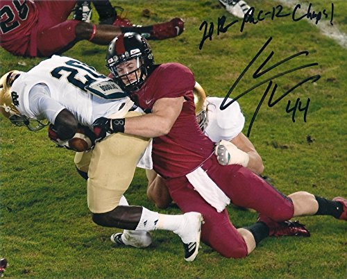 Chase Thomas Signed Auto Stanford Cardinal 8x10 Football - Pac 12 Mini Football Helmets
