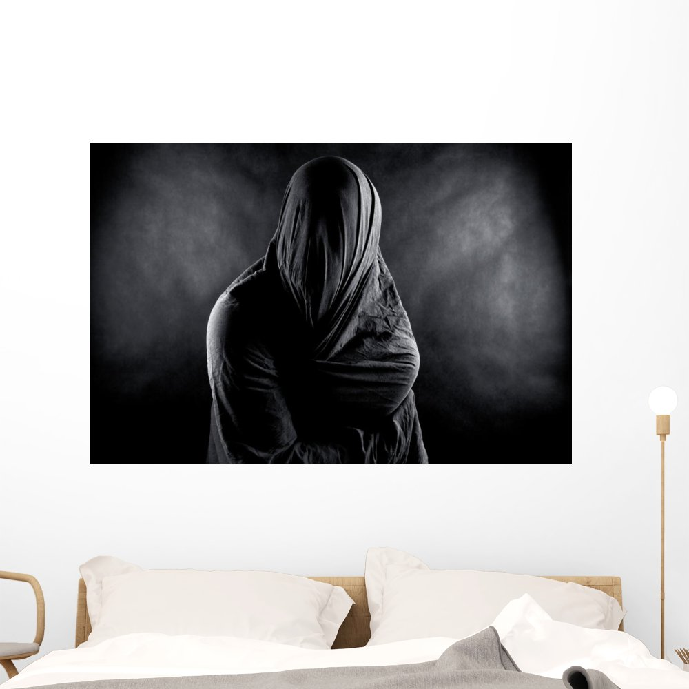 Ghost Dark Wall Mural by Wallmonkeys Peel and Stick Graphic (48 in W x 32 in H) WM365456