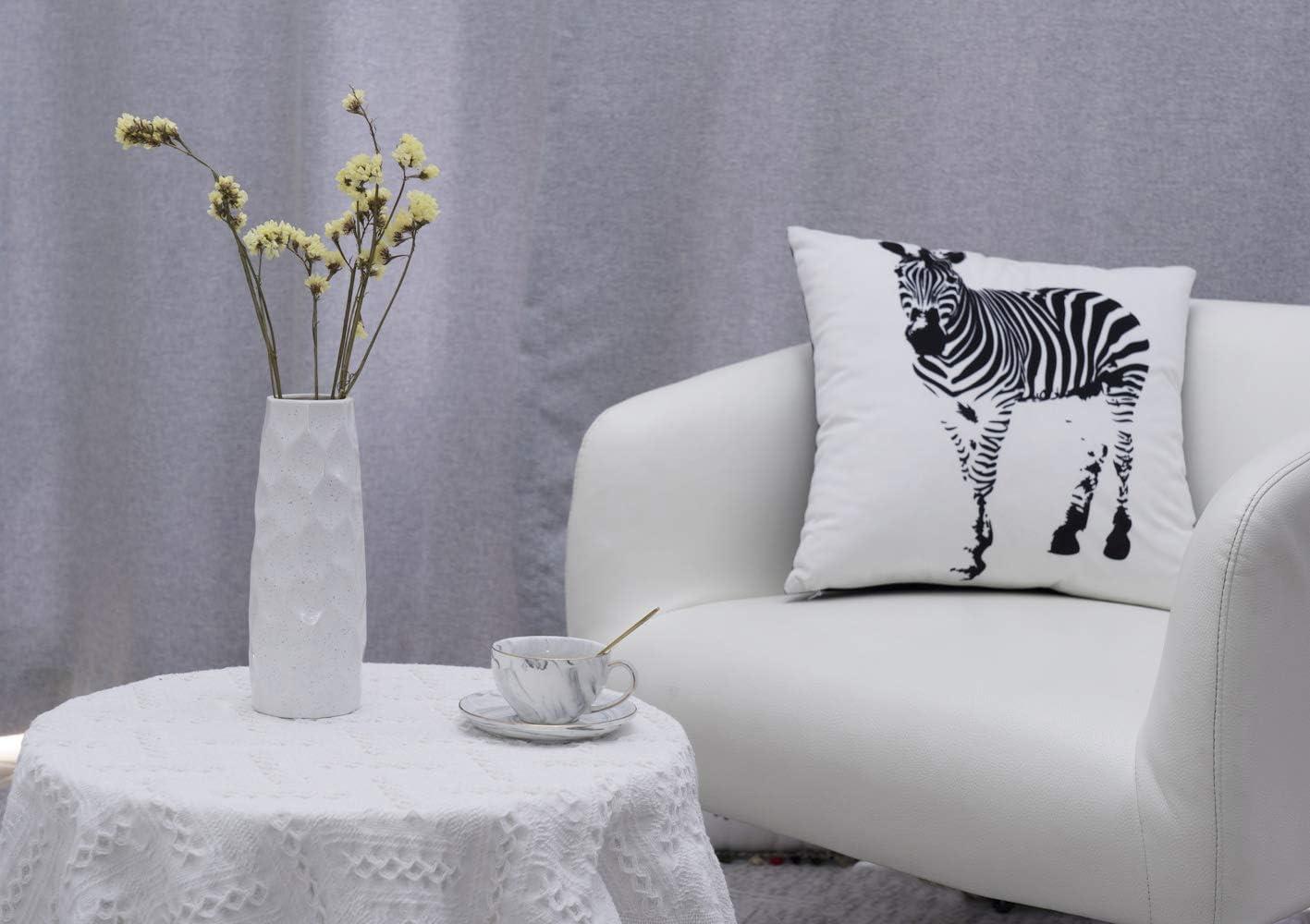 maison cuisine table d/écoration de f/ête de mariage Dr.Cerart Vase de fleurs en c/éramique pour salon blanc g/éom/étrique bureau