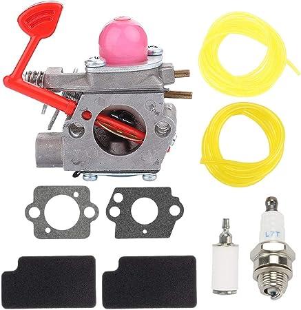Kizut WT-875 Carburetor for Craftsman Poulan Blower BVM200VS BVM200C P200C Pro PP320 P325 GBV325 PPB1838LE PL855 Weedeater Walbro WT-875A 545081855 Carb w Carburetor Adjustment Tool Parts Kit
