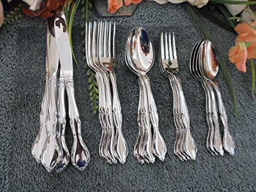 LAKEWOOD aka TUXEDO: 18/8 USA Oneida SSS Sears Tradition Stainless 20pcs 4 Place Settings Excellent (Flatware Sears)