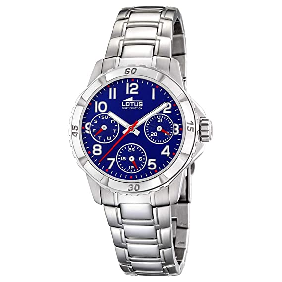 51279da22fd9 Reloj Lotus Niño Cadete 18582 2 Acero Multifunción  Amazon.es  Relojes