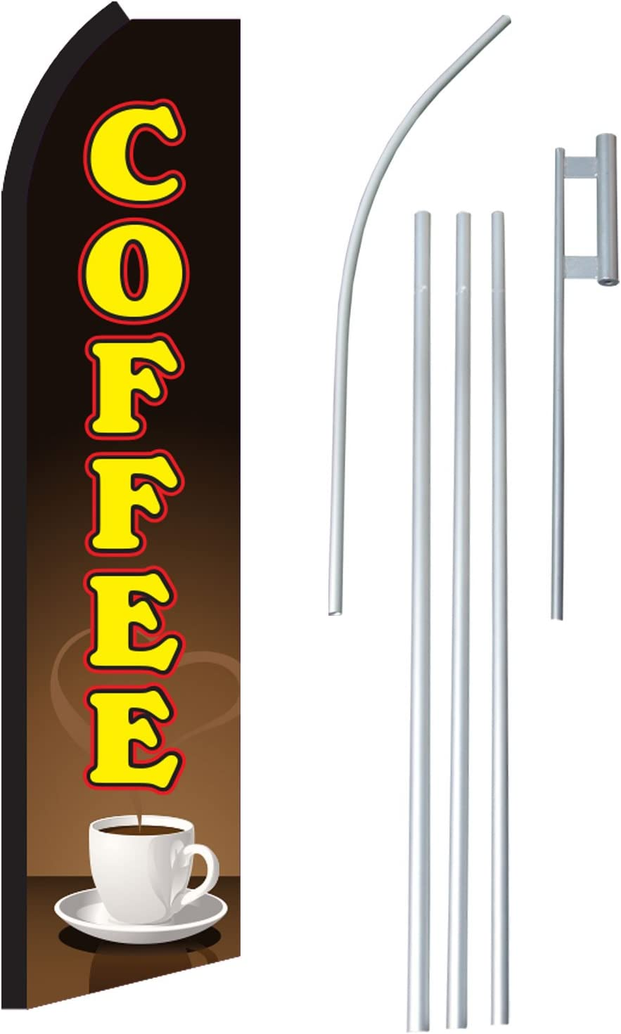 Coffee Shop Windless Swooper Flag  Sign