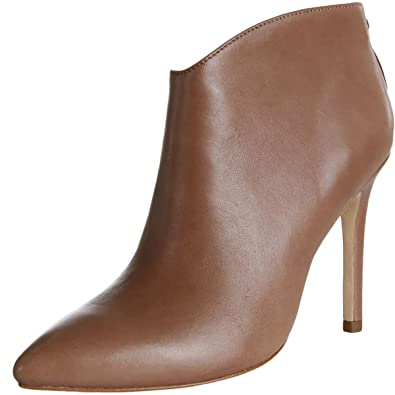 Womens Karen Leather Pointed Toe Booties