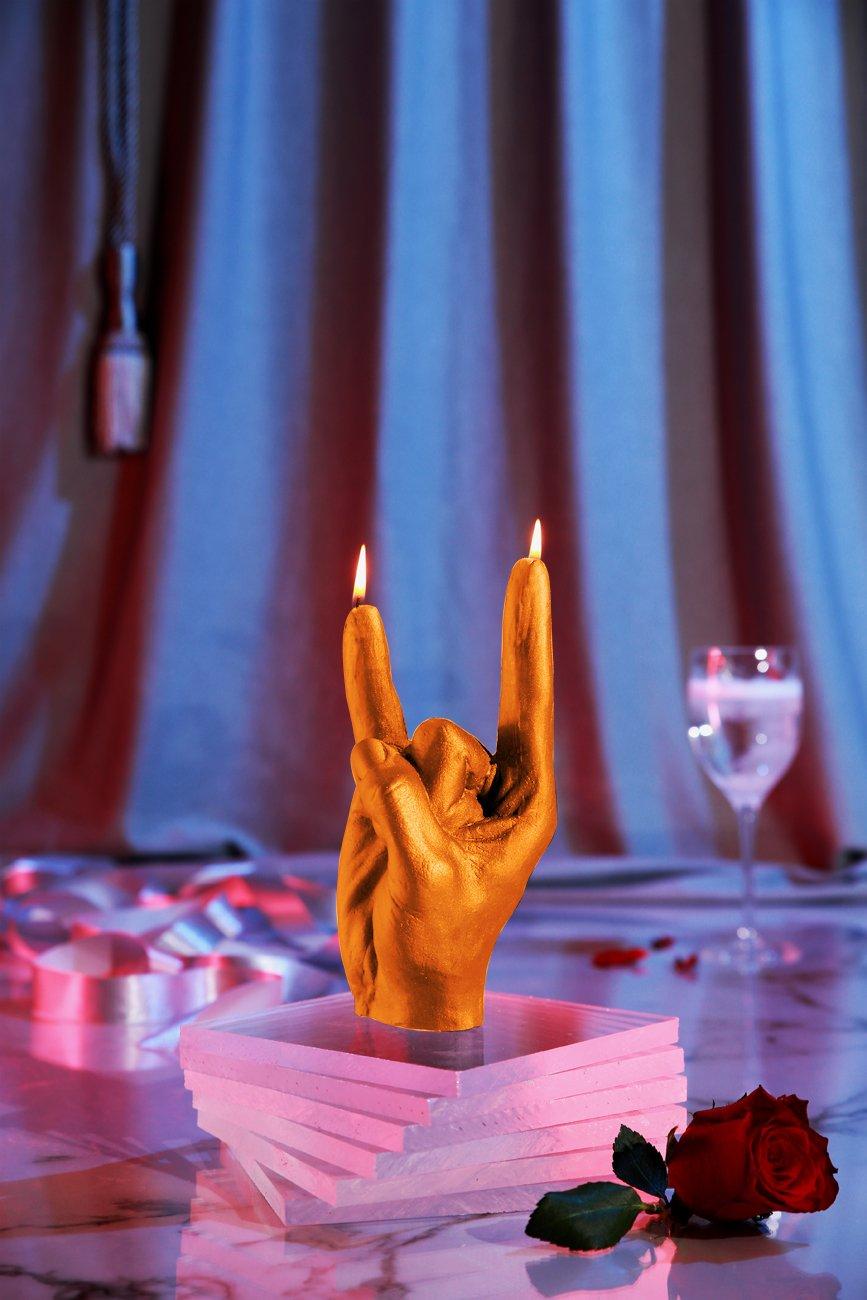 Candellana Candles N' Roll Candellana- Rock n'Roll Candle-Orange,