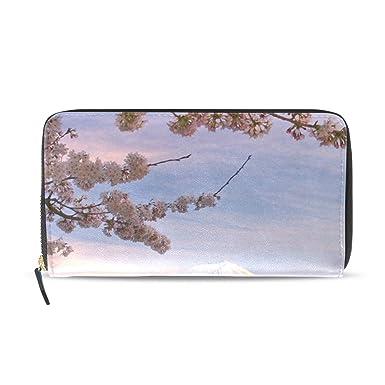 Amazon.com: Monedero japonés para mujer Fuji Cherry Blossoms ...