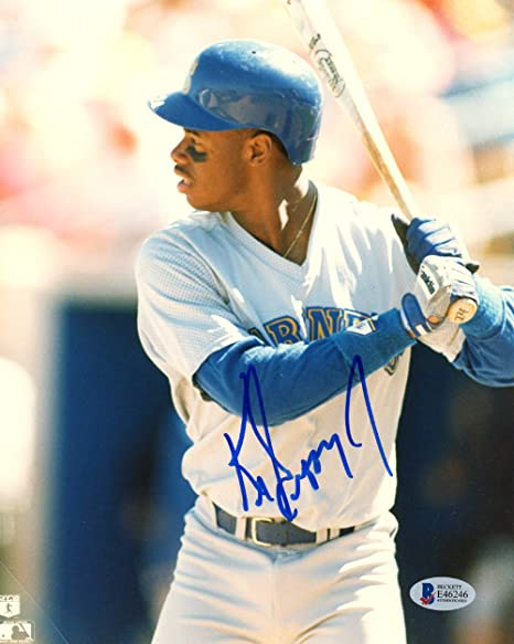newest 92b92 f611a Ken Griffey Jr. Autographed 8x10 Photo Seattle Mariners ...